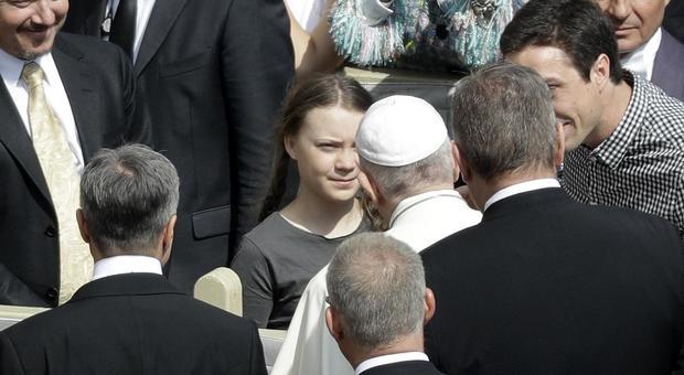 Greta Thunberg, l'arrivo a Roma e l'incontro con Papa Francesco